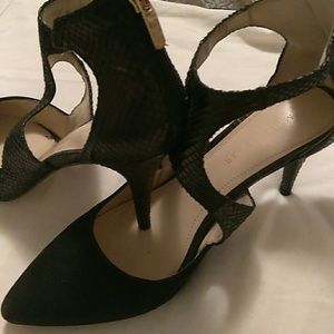Marc Fisher leather black heels